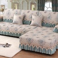 沙发垫欧式防滑四季布艺简约现代沙发罩全盖坐垫全包�f能沙发套巾