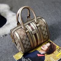 欧美时尚新款波士顿包手提包单肩包圆桶包斜挎包大包包枕头包