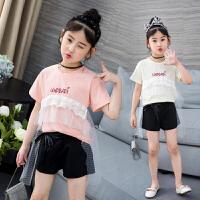 T恤儿童短裤两件套中大童套装休闲时尚韩版女孩潮