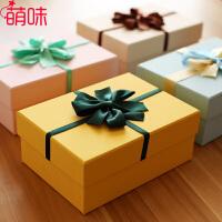 萌味 礼品盒 新款特大号糖果色丝带款纸盒子通用带手提袋可定制送朋友闺蜜生日礼物盒男女学生创意礼品