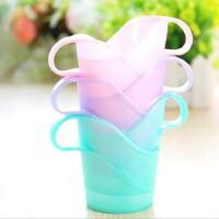 杯托一次性纸杯拖 饮水杯杯托塑料杯拖纸杯架开水隔热托杯架6个装