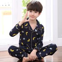 男童睡衣春秋儿童睡衣长袖卡通中大童小孩童装家居服套装
