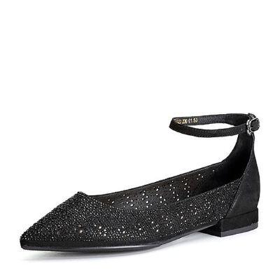 BASTO/百思图2018春季专柜同款羊皮镂空水钻浅口方跟女单鞋RJO20AQ8