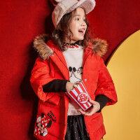 【1.18超品日全场2件2.5折,到手价:174.8】美特斯邦威旗下moomoo童装女童羽绒服新款冬装迪士尼卡通鸭绒中
