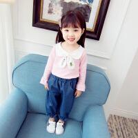 女宝宝春秋装套装女童洋气两件套0小孩2婴幼儿4衣服1-3周岁韩版潮yly