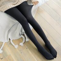 【限时抢】B002 春季薄款拉绒打底裤外穿百搭黑色保暖连脚一体裤100g