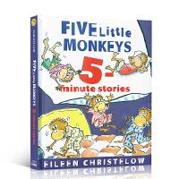 英文原版 Five Little Monkeys 五只猴子【8个】故事精装合集 廖彩杏书单廖彩杏书单jumping on the bed,sitting in a tree