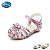 迪士尼Disney童鞋2018新款儿童凉鞋心形闪钻公主鞋女童时装凉鞋清凉时尚夏季休闲鞋(5-10岁可选) DS2345