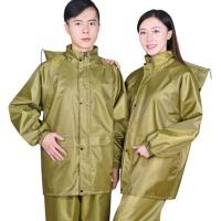 户外摩托车电动车雨衣 分体雨衣雨裤套装 男女成人厚帆布反光雨衣