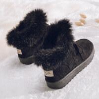 冬季雪地靴女新款短筒加绒保暖短靴靴子韩版百搭学生棉鞋子潮