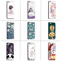 iphone苹果X软壳6/7/8plus裸机6S手感5支架p手机壳保护指环扣一体