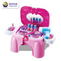 维莱 儿童化妆台 儿童化妆品套装 �^家家 过家家玩具 儿童坐椅玩具