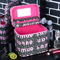 化妆包大容量简约便携韩国小号多功能可爱化妆箱手提护肤品收纳盒