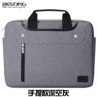 苹果macbook笔记本电脑包pro13英寸air13.3单肩12内胆mac15手提 都市版手 深空灰