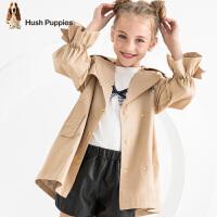 【2件5折:149元】暇步士童装秋季新款女童风衣外套时尚甜美可爱刺绣薄风衣外套儿童薄风衣外套