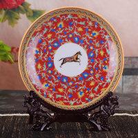 装饰挂件摆件q3332 挂盘 装饰盘景德镇陶瓷 家居客厅摆件 现代工艺饰品