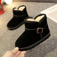 儿童雪地靴保暖棉鞋2018冬季新款加绒女童短靴男童宝宝防水靴鞋子srr