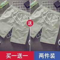 夏季速干休闲短裤男士宽松五分沙滩裤韩版潮流男裤子