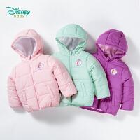 迪士尼Disney童装 女童外套秋冬外出棉服宝宝保暖夹棉休闲上衣184S1016