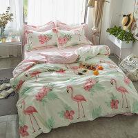 床上四件套纯棉床单被套1.8m床双人床笠4件套ins卡通公主风 被套220x240适合2.0m床 床单款