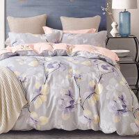 儿童四件套纯棉全棉女孩卡通被套1.2米1.5m床单人三件套床上用品4 恬静优雅纯棉三四件套T 1.8m(6英尺)床