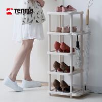 Tenma日本天马株式会社多层门后鞋架简易门口鞋子雨伞收纳架省空间置物架
