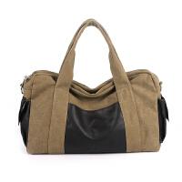 行李包手提包短途旅行包帆布男单肩包女旅游包大容量行李袋健身包