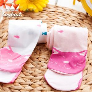 【3折价:20.7元】水孩儿souhait童袜女童连裤袜儿童袜子女孩可爱连裤长袜一条装AWKXL451
