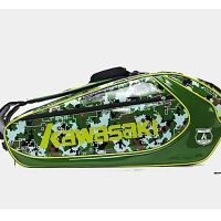 KAWASAKI羽毛球包 中性 川崎羽毛球背包6支装KBB-8637(迷彩绿)