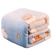 毛毯子冬季珊瑚绒双层加厚保暖法兰绒床单学生宿舍单人午睡小被子