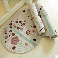 棉编织地垫门垫进门入户厨房脚垫卧室浴室门口吸水垫子地板防滑垫