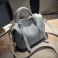 女士包包2018夏季新款欧美时尚波士顿包女包手提包单肩斜挎枕头包