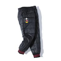 冬季韩版儿童羽绒裤中小童男童女童外穿宝宝保暖裤加厚开档轻薄