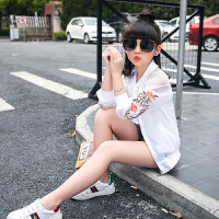 女童夏装防晒服外套新款儿童中大童韩版薄款洋气潮夏季防晒衣