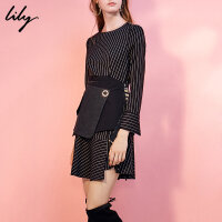 Lily春新款女装时尚多种穿法腰封不对称造型腰封117440LZ501