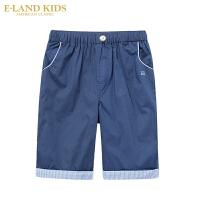 【1件3折价:119.4元】Eland kids衣恋童装儿童夏季新款男童卷边休闲短裤