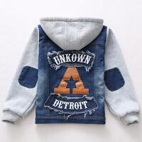 男童宝宝加绒加厚牛仔外套儿童1-3岁韩版牛仔夹克棉衣秋冬款6上衣