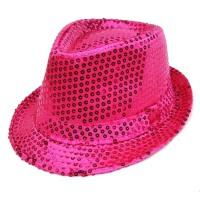 爵士帽子 英伦礼帽男士亮片 炫闪舞台表演帽子 女士英伦帽子
