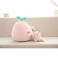 可爱鲸鱼动漫抱枕可插汽车一对车内个性空调被小毯子抱枕两用 粉色 鲸鱼