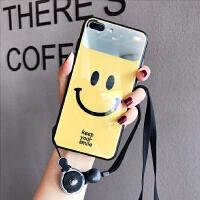 苹果xs max补妆化妆镜子8保持微笑苹果6s手机壳7plus个性XR网红笑脸iPhoneX i7/8 4.7 镜子黄