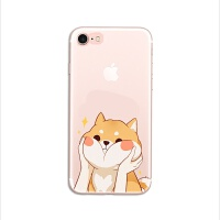 卡通可爱柴犬狗狗iphone7手机壳苹果6plus/5se情侣创意硅胶软壳套