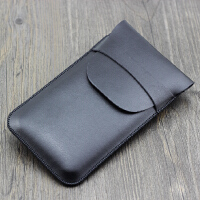 防滑落 小米移动电源2代10000毫安保护皮套收纳包配件双USB高配版 黑色 有盖款