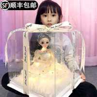 �翎芭比洋娃娃女孩公主套�b超大�玩具仿真精致����Y盒生日�Y物
