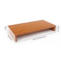 楠竹笔记本电脑增高架显示器底座托架子实木办公桌面收纳置物架