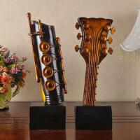 ?创意家居摆件办公室置物架抽象乐器吉他酒吧餐厅摆设装饰品 图片色 图片色