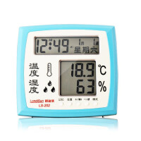 朗迪信LS-202高精度温度计电子温湿度计表 星期 公历 农历及时间