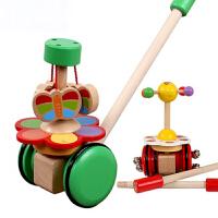 宝宝学步玩具手推车婴儿幼儿1-2岁拖拉推车儿童玩具车