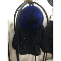 №【2019新款】冬天美女穿的新款羽绒服收腰加厚女短款韩版超大真毛领工装冬外套