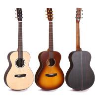 ?面单板民谣木吉他旅行36寸38寸指弹唱圆角男女学生初学者儿童吉它