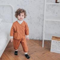 宝宝睡衣男1-3岁2儿童家居服加厚男童套装小童秋装4男宝宝秋冬款5